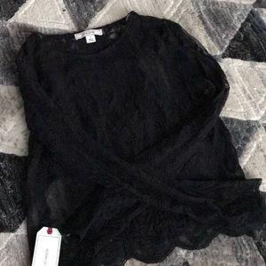 Adam Levine black lace shirt
